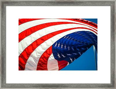 Floating Flag  Framed Print