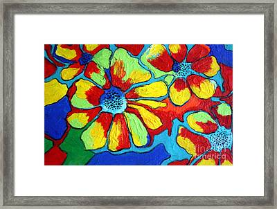 Framed Print featuring the painting Floating Flowers by Alison Caltrider