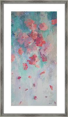 Floating Flowers Painting Framed Print