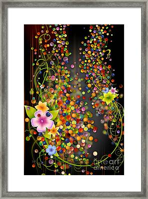 Floating Fragrances - Black Version Framed Print by Bedros Awak