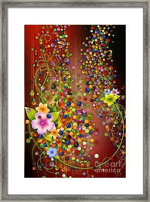 Floating Fragrances - Red Version Framed Print by Bedros Awak