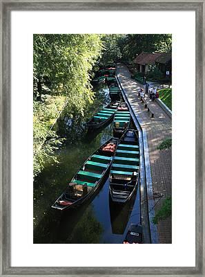 Floating Grardens Of Amiens Framed Print