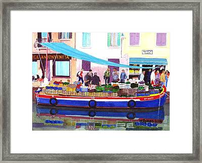Floating Grocery Store Framed Print by Mike Robles