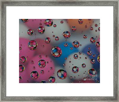 Floating Gum Balls Framed Print