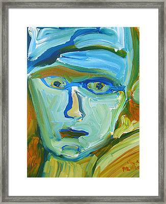 Floating Head Framed Print by Shea Holliman