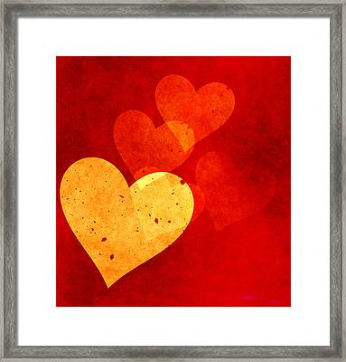 Floating Hearts Framed Print by Kurt Van Wagner