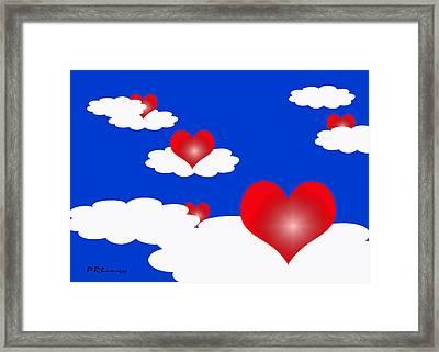 Floating Hearts Framed Print