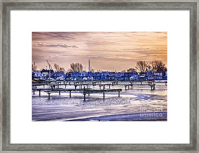 Floating Homes At Bluffers Park Marina Framed Print by Elena Elisseeva