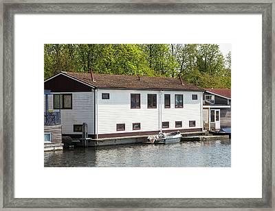 Floating Houses In Amsterdam Framed Print