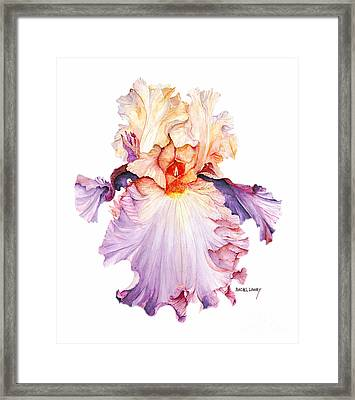 Floating Iris 2 Framed Print