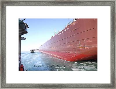 Floating Iron Framed Print