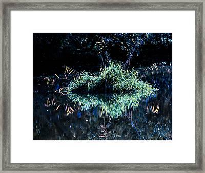 Floating Island Framed Print