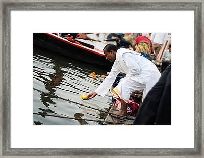 Floating Lamp Framed Print by Money Sharma