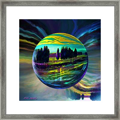 Floating Lavender Fields  Framed Print by Robin Moline