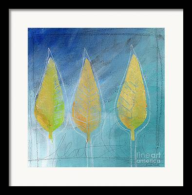 Autumn Leaves Mixed Media Framed Prints