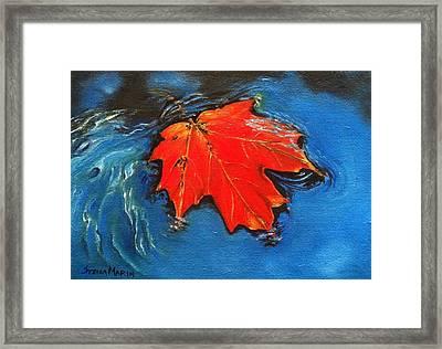 Floating Maple Reference Framed Print