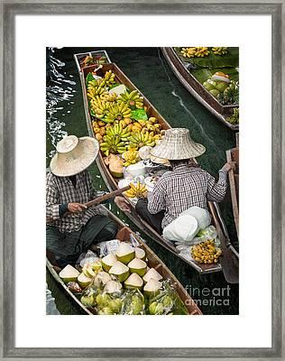 Floating Market  Framed Print by Anek Suwannaphoom