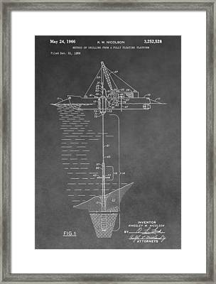 Floating Oil Platform Patent Framed Print by Dan Sproul