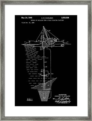 Floating Oil Rig Patent Framed Print by Dan Sproul