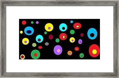 Floating Orbs # 4 Framed Print
