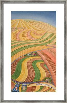 Floating Over Fields I Framed Print