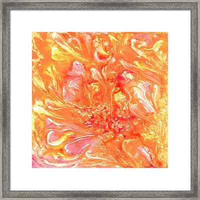 Floating Petals Framed Print by Rosie Brown