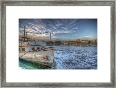 Floating Restaurant Framed Print by Nathan Wright