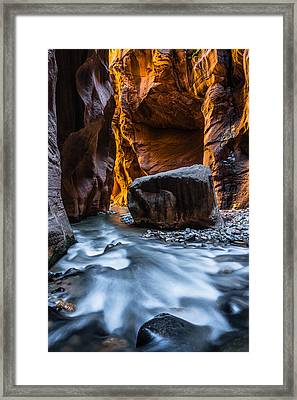 Floating Rock Framed Print