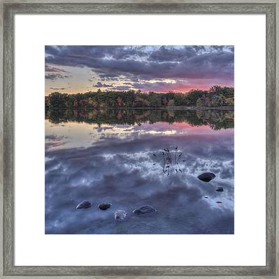 Floating Rocks Framed Print