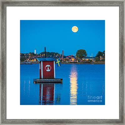 Floating Sauna Framed Print by Inge Johnsson