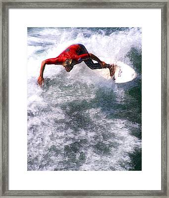 Floating Through The Soup Framed Print