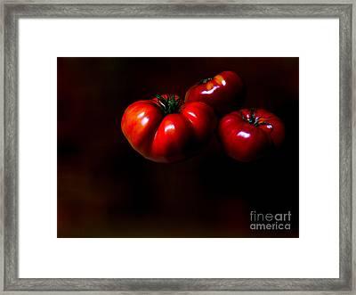 Floating Tomatoes Framed Print