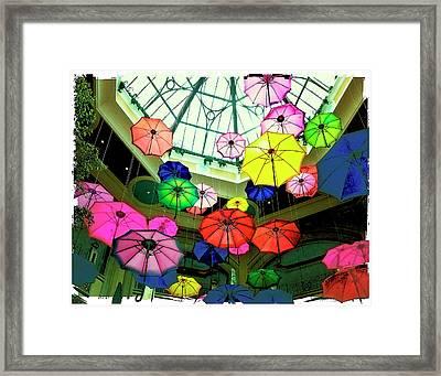 Floating Umbrellas In Las Vegas  Framed Print by Susan Stone