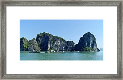 Floating Village Ha Long Bay Framed Print by Scott Carruthers