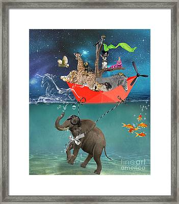 Floating Zoo Framed Print