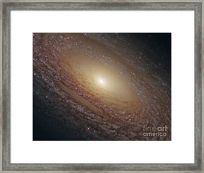 Flocculent Spiral Galaxy Ngc 2841 Framed Print by Science Source