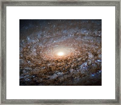 Flocculent Spiral Galaxy Ngc 3521 Framed Print