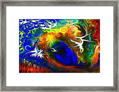 Flock Of Birds Framed Print by Omaste Witkowski