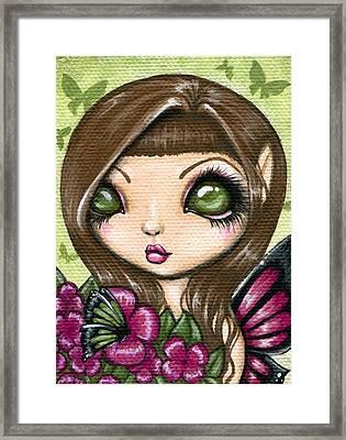 Floewer Fairy Fleur Framed Print by Elaina  Wagner