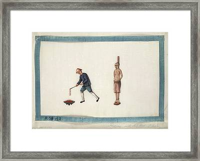 Flogging With Red Hot Chain Framed Print by British Library