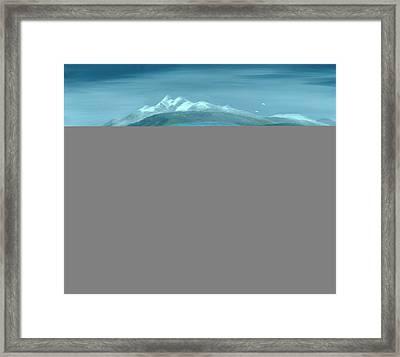 Flood, 1999 Oil On Canvas Framed Print by Magdolna Ban