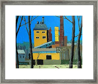Flood By The Power Plant Framed Print by Charlie Spear