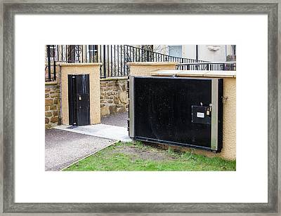 Flood Defences In Cockermouth Framed Print by Ashley Cooper