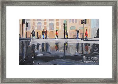 Flood In The City Framed Print