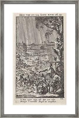 Flood, Jan Luyken Framed Print by Jan Luyken And Wed. Pieter Arentsz & Cornelis Van Der Sys (ii)