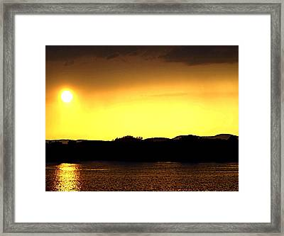 Flood Me With Your Light Framed Print by Sharon Soberon