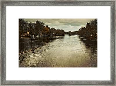 Flood Waters Milwaukee River 2013 Framed Print