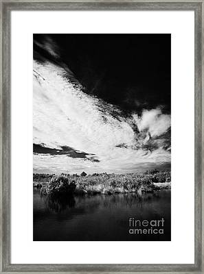 Flooded Grasslands And Mangrove Forest In The Florida Everglade Framed Print by Joe Fox