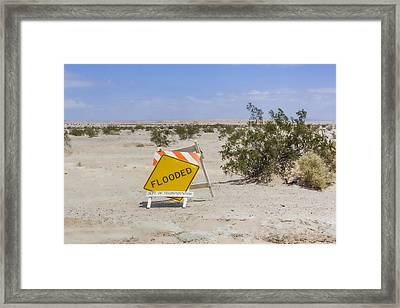 Flooded Framed Print by Photographic Art by Russel Ray Photos