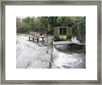 Flooded Sluice Gate Framed Print by Sheila Terry